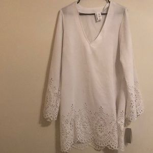 White Scalloped Cover Up